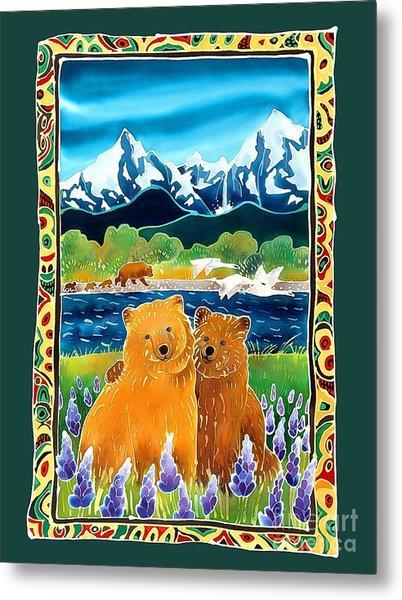 Sibling Bears Of Katmai Metal Print by Harriet Peck Taylor