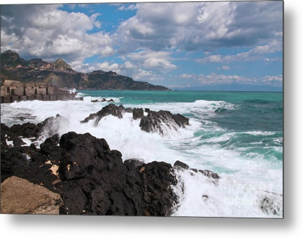 Sicilian Stormy Sound Metal Print