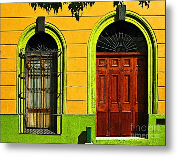 Side Door By Darian Day Metal Print by Mexicolors Art Photography