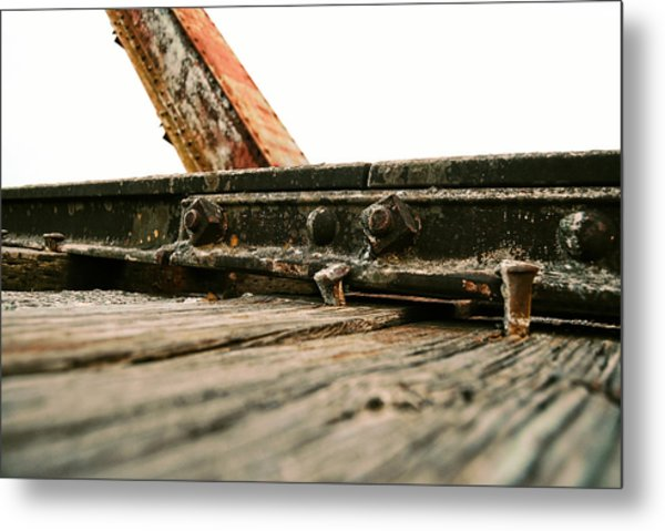 Side Of Rail #photography #trains Metal Print