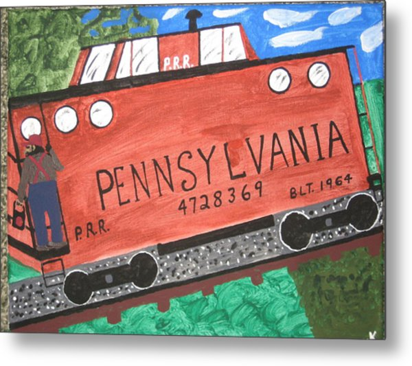 Side Tracked In Pa.  Metal Print by Jeffrey Koss