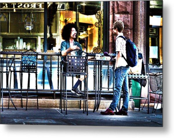 048 - Sidewalk Cafe Metal Print