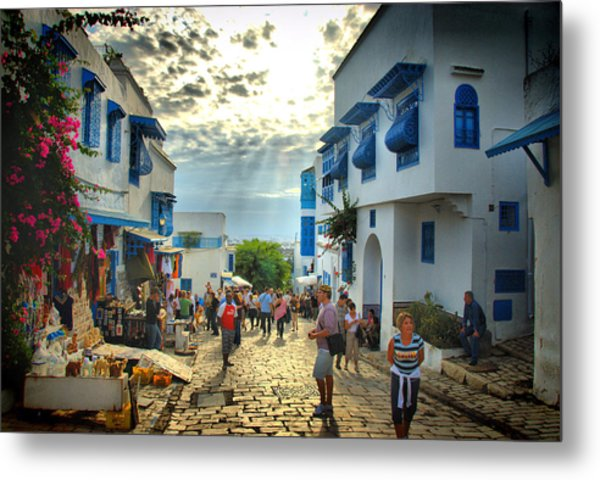Sidi Bou Said Sunset Metal Print by Aleksey Napolskih