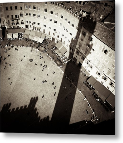 Siena From Above Metal Print