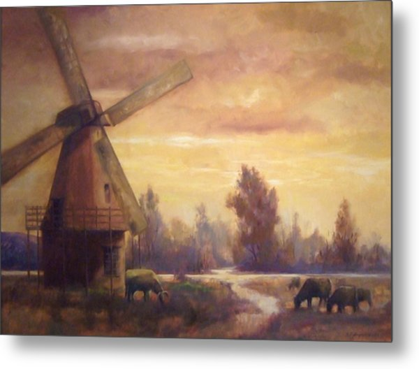 Sienna Mill Metal Print by Ruth Stromswold