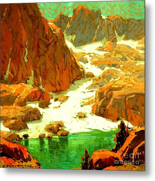 Sierra Landscape Circa 1920 Metal Print