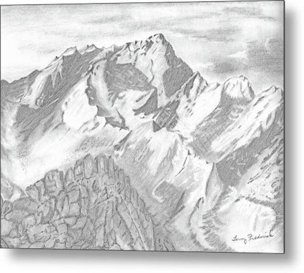 Sierra Mt's Metal Print
