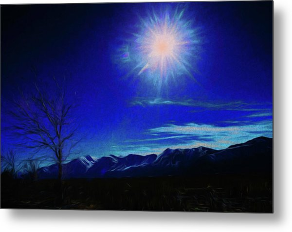 Sierra Night Metal Print