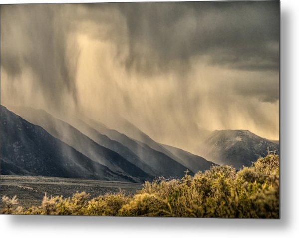 Sierra Storm From Panum Crater Metal Print