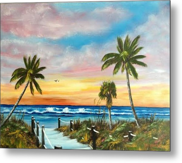 Siesta Key At Sunset Metal Print