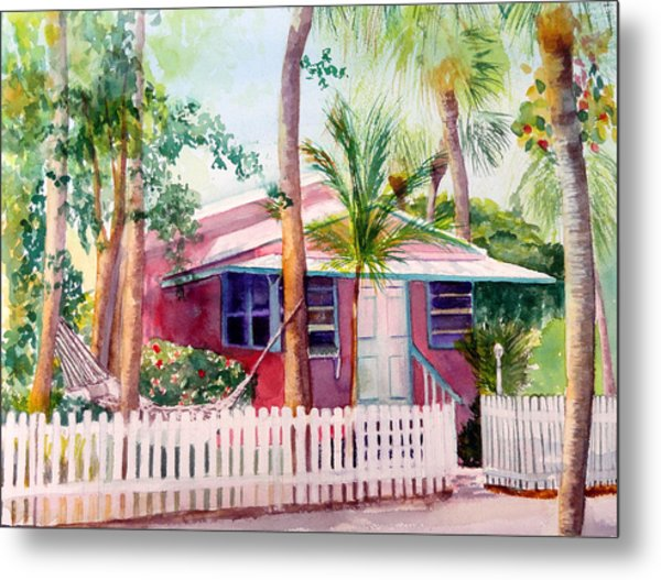 Siesta Key Cottage Metal Print