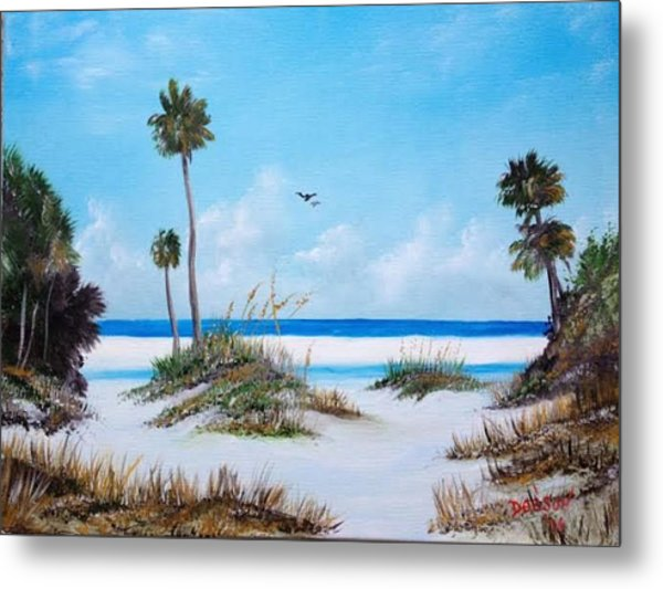 Siesta Key Fun Metal Print