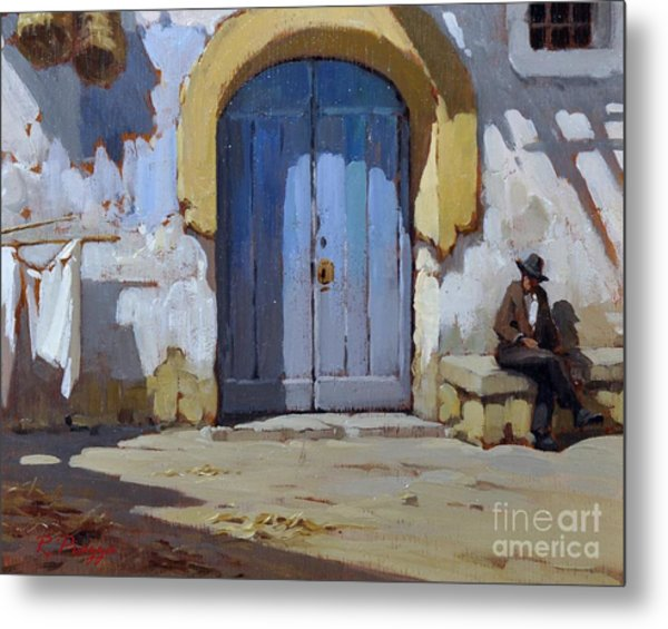Siesta Time In Naples Metal Print