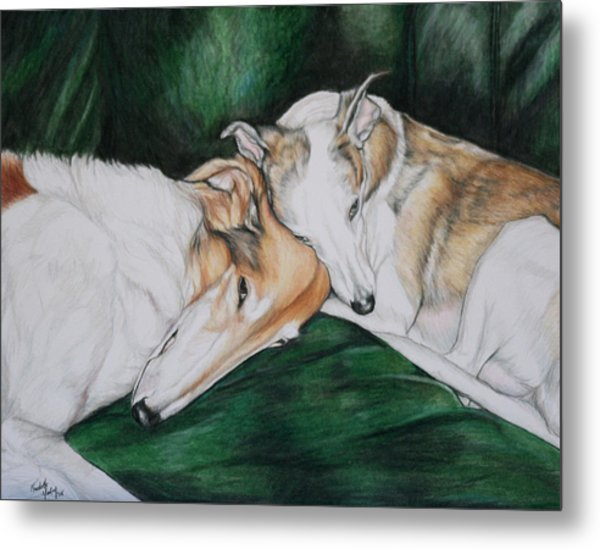 Sighthound Comfort Metal Print