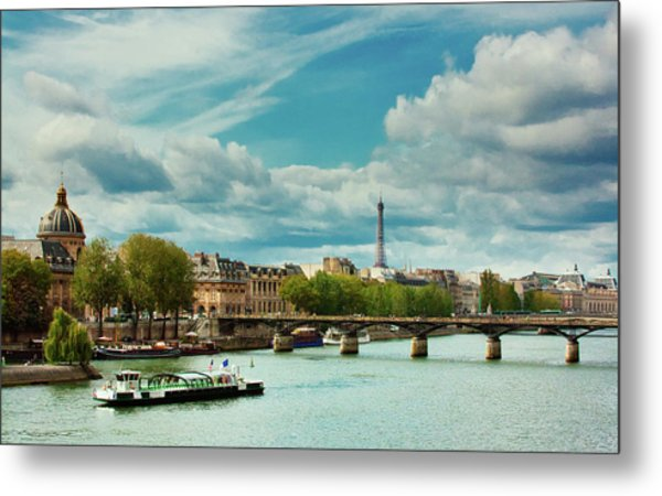 Sightseeing On The River Seine Metal Print