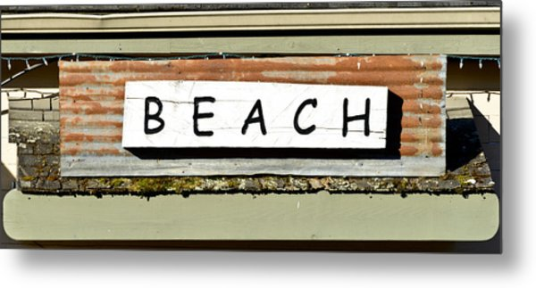 Sign Of A Beach Metal Print