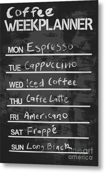 Sign Of A Coffee Lover Metal Print