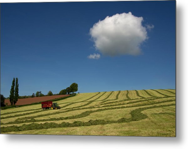 Silage Making  Metal Print