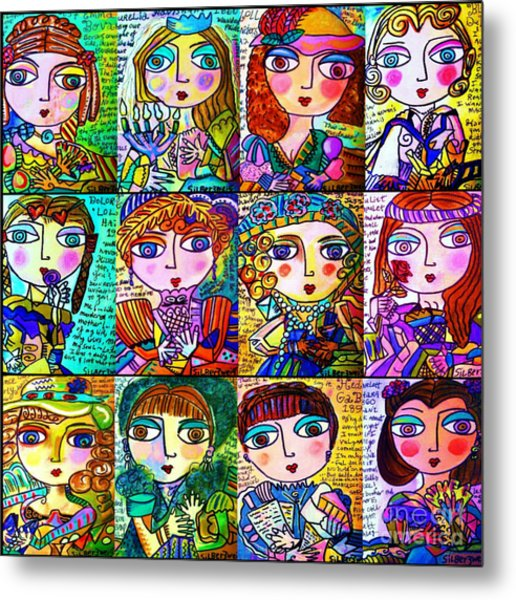 Silberzweig - Ladies Of Literature -   Metal Print
