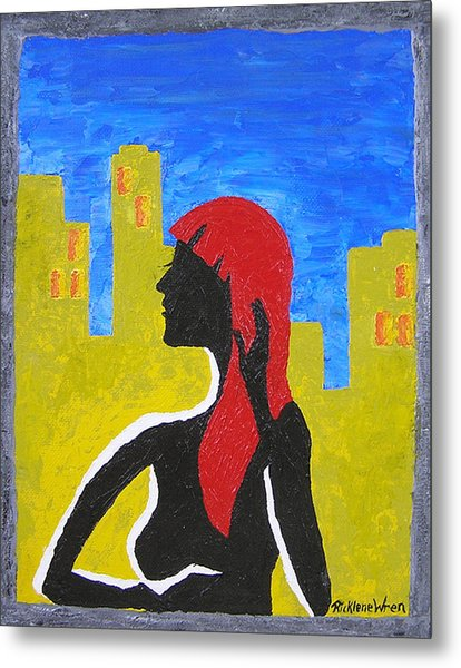 Silence In The City Metal Print by Ricklene Wren
