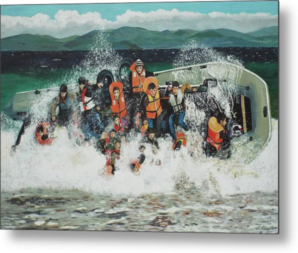 Metal Print featuring the painting Silent Screams by Eric Kempson