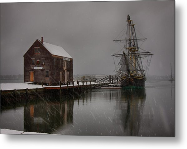 Silently The Snow Falls. Metal Print