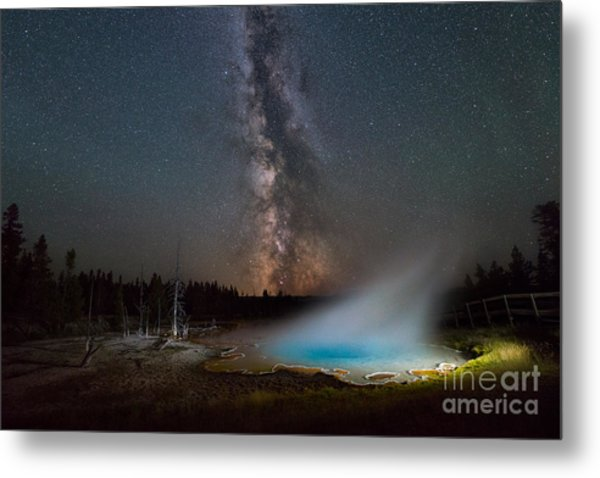 Silex Spring Milky Way  Metal Print
