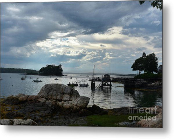 Silhouetted Views From Bustin's Island In Maine Metal Print
