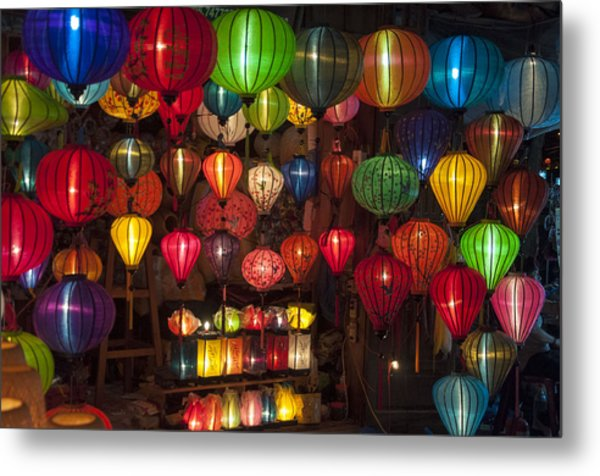 Silk Lanterns Metal Print