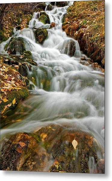 Silky Waterfall Metal Print