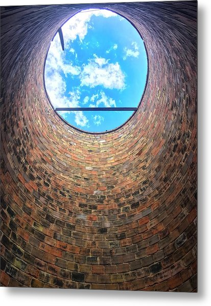 Silo Look Up Metal Print