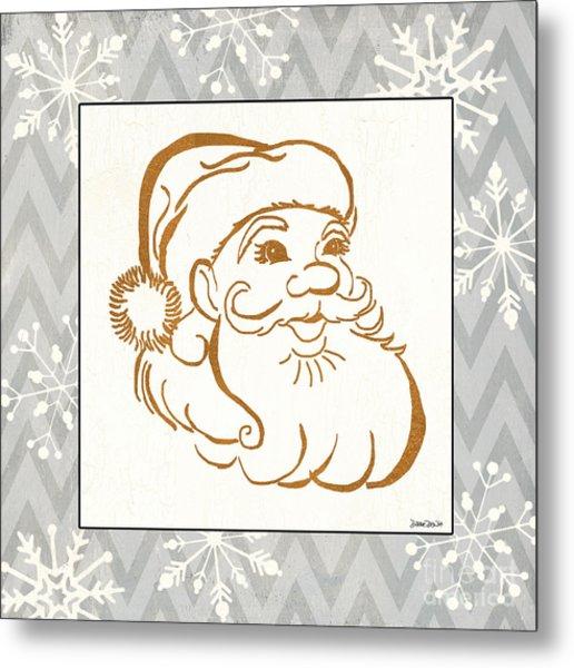 Silver And Gold Santa Metal Print