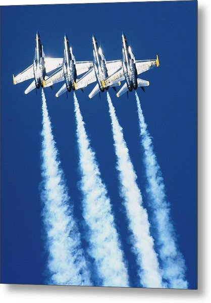 Silver Angels Metal Print by Melanie Beasley