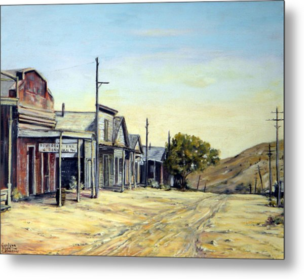 Silver City Nevada Metal Print by Evelyne Boynton Grierson