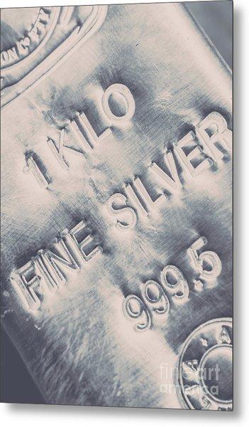 Silver Commodities Metal Print