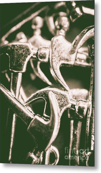 Silver Hammers Metal Print
