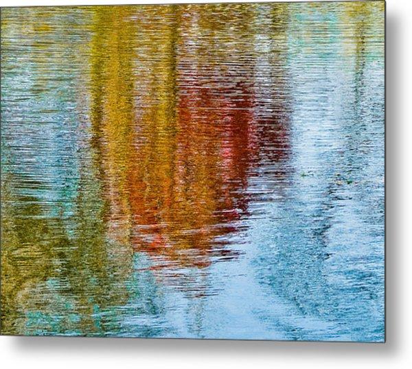 Silver Lake Autumn Reflections Metal Print