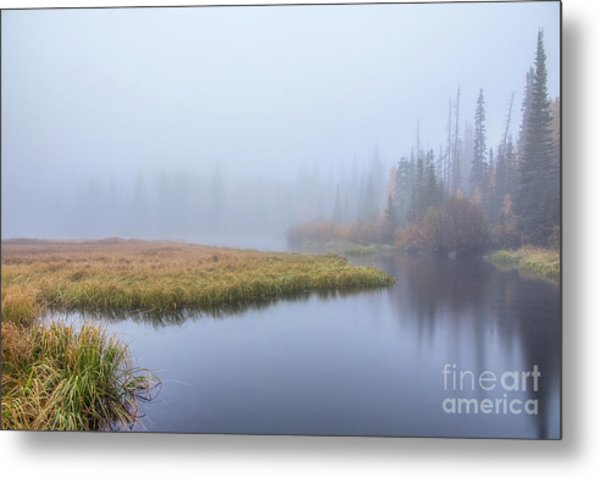Silver Lake In The Clouds Metal Print