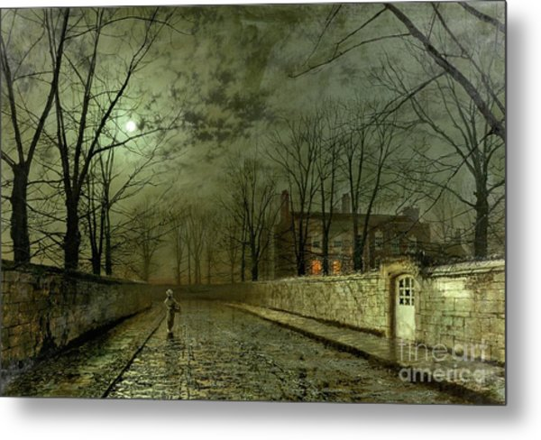 Silver Moonlight Metal Print