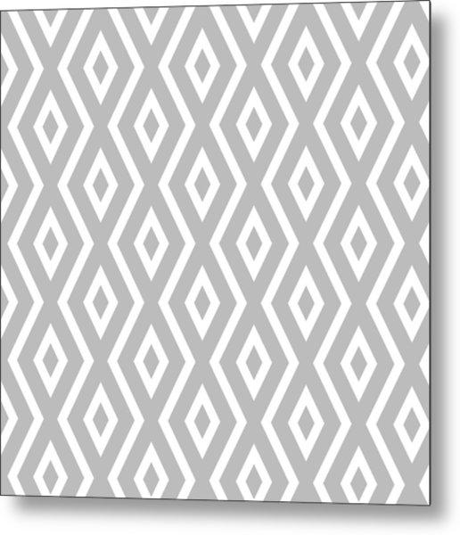 Silver Pattern Metal Print