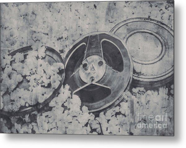 Silver Screen Film Noir Metal Print