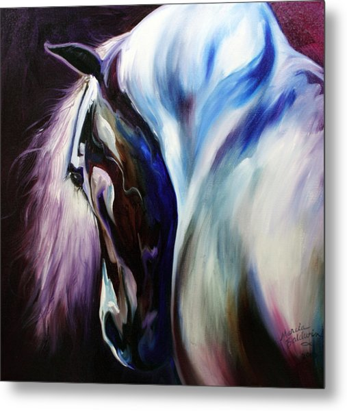 Silver Shadows Equine Metal Print