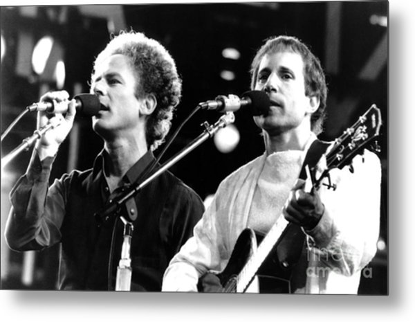 Simon And Garfunkel 1982 Metal Print