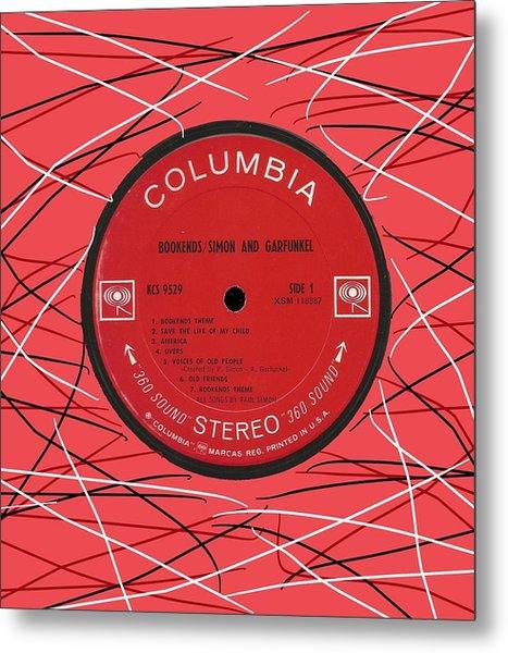 Simon And Garfunkel Bookends Lp Label Metal Print