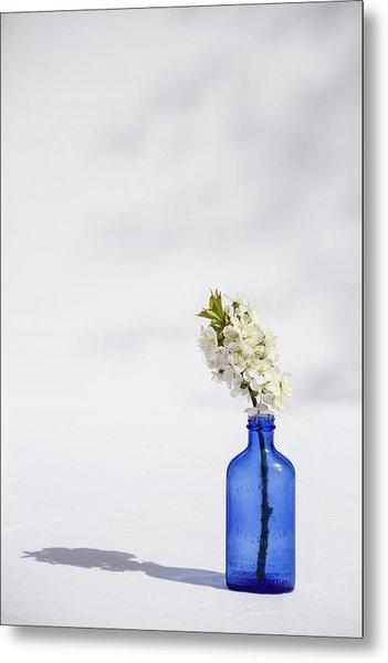 Simple Blue Metal Print