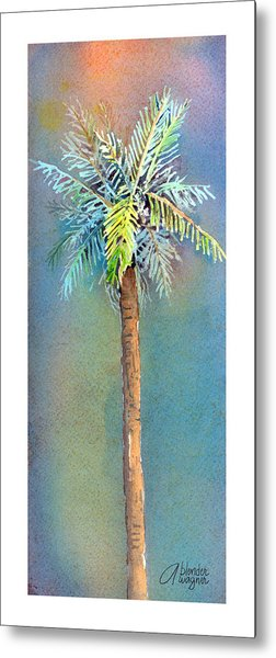 Simple Palm Tree Metal Print