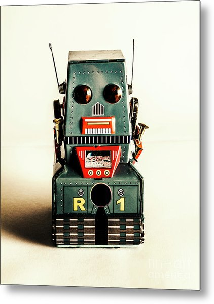 Simple Robot From 1960 Metal Print