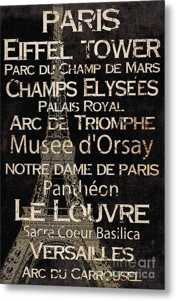 Simple Speak Paris Metal Print