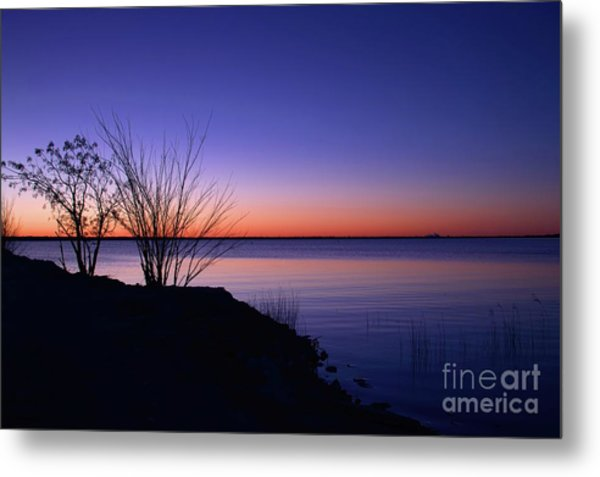 Simply Gentle Blue Metal Print