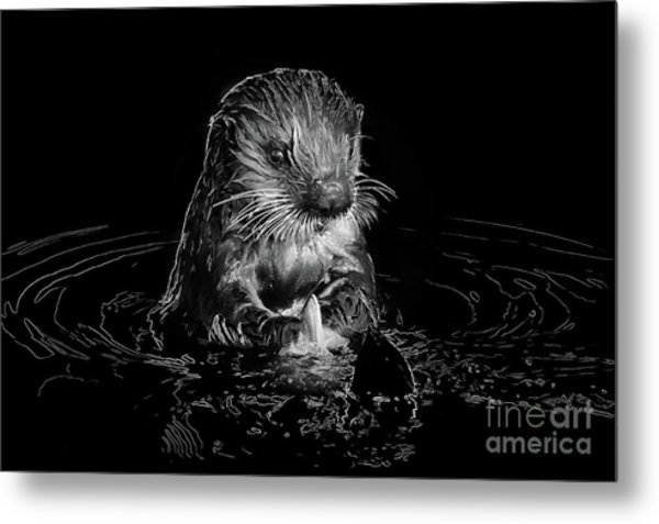 Simply Otter Metal Print